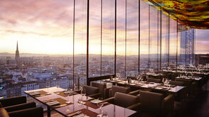 Sunset over Vienna - Rooftop Bar of the Sofitel Vienna