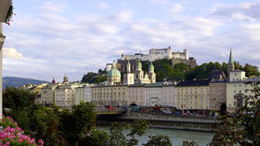 Hotel Sacher Salzburg - View from hotel to the fortress