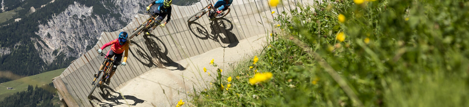 "Der ""Flying Gangster"" im Bikepark Leogang"