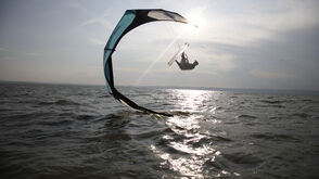 Kite-Surfer am Neusiedlersee