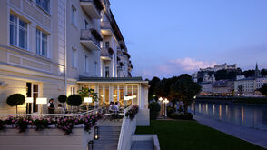Hotel Sacher Salzburg - Terrace at the Salzach River