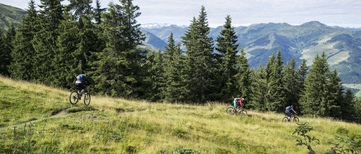Mountainbiken in Kirchberg in Tirol Fleckalm-Trail